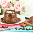 Yummy chocolate cake close-up — Stok Fotoğraf #36485891