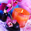 Beautiful spa setting with orchid close-up — Stock Photo #36485941