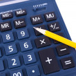 Digital calculator close-up — Stock Photo