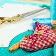 Stock Photo: Sewing tools fashion design
