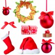 Group of Christmas objects isolated on white — Stockfoto #36562937