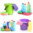 Stock Photo: Cleaning items isolated on white