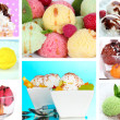 Collage of yummy ice-cream — Stok Fotoğraf #36562981