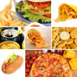 Tasty food collage — Stock Photo