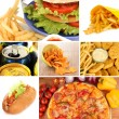Stock Photo: Tasty food collage
