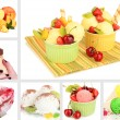 Collage of yummy ice-cream — Stok Fotoğraf #36563193