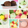 Collage of yummy ice-cream — Stok Fotoğraf #36563289