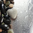 Stock Photo: Grey stone in shape of heart, on light background