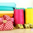 Cloth fabrics close up — Stock Photo