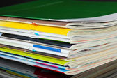 Many magazines close-up — Stock Photo