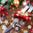 Decorated Christmas table setting — Stock Photo #36603867