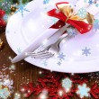 Decorated Christmas table setting — Stock Photo #36603877