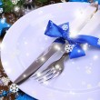 Decorated Christmas table setting — Stock Photo #36603879