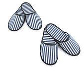 Striped slippers isolated on white — Zdjęcie stockowe