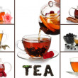 Tasty tea collage — Stock Photo #36685527