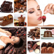 Chocolate collage — Stock Photo #36685529