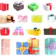Colorful gift boxes isolated on white — Stock Photo #36685537