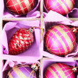 Beautiful packaged Christmas toys, close up — Zdjęcie stockowe #36685887