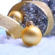 Christmas decorations on light background — 图库照片