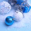 Christmas decorations on light background — Foto de Stock