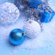 Christmas decorations on light background — Stock Photo