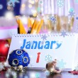 Stock Photo: New Year party at office close-up