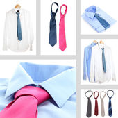 Collage of male shirts and ties — Foto de Stock