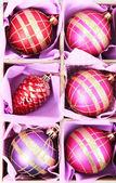 Beautiful packaged Christmas toys, close up — 图库照片