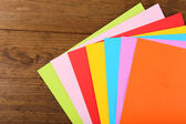 Colorful cardboard on table close-up — Stock Photo