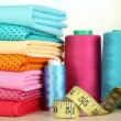 Stock Photo: Cloth fabrics close up