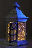 Decorative glowing lantern at night — Stock Photo
