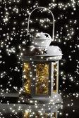 Geceleri dekoratif parlayan fener — Stok fotoğraf