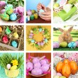 Collage of colorful Easter — Foto Stock