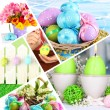 Foto Stock: Collage of colorful Easter