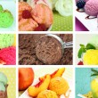 Collage of yummy ice-cream — Stok Fotoğraf #36856309