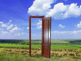 Açık kapı alanında yeni bir hayat için — Stok fotoğraf