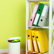 Garbage bin, on office background — Stock Photo #36865281