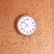 Clock on wall background — Stock Photo #36868605