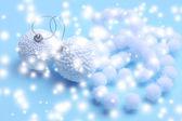 Christmas decorations on light background — Stok fotoğraf