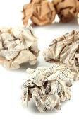 Bolas de papel arrugado aisladas en blanco — Foto de Stock