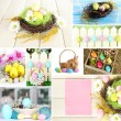 Collage of colorful Easter — Stok fotoğraf