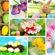 Collage of colorful Easter — Foto Stock #36959657