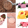 Stock Photo: Collage of yummy ice-cream