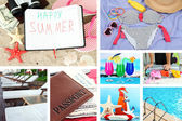 Summer vacation collage — Stock Photo