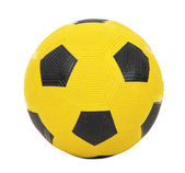 Children's yellow football ball, isolated on white — Foto de Stock