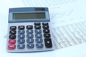 Calculator and documents close up — Stock Photo