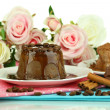Yummy chocolate cake close-up — Stok Fotoğraf #37096213
