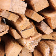 Stock Photo: Stack of firewood close up