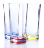 Vasos vacíos, aislados en blanco — Foto de Stock