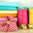 Cloth fabrics close up — Stock Photo #37104593